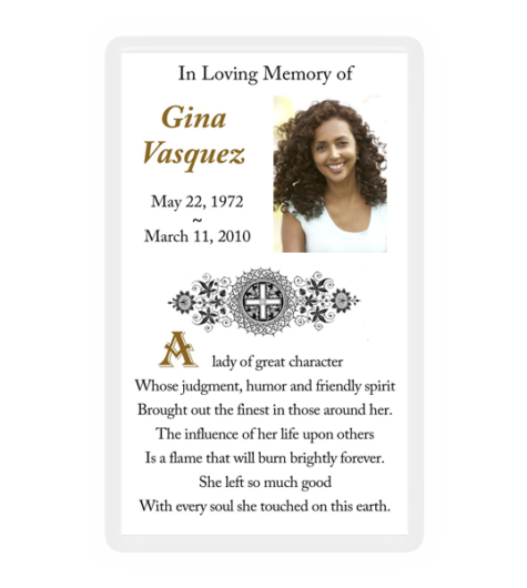 Memorial Cards & Thank You Cards - TopMemorial