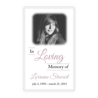 Memorial Card Layouts